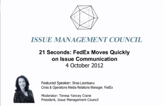Issue Action Publications | FedEx Webinar